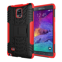 Case for Samsung note 4, Newest design mobile phone back protector cover magnet kickstand shell