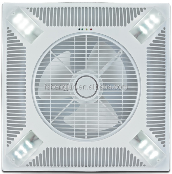 60x60cm Shami Kdk 14 Inch False Ceiling Mounted Ventilation Fan With Led Light To Iraq Dubai Stan Syria India 60x60