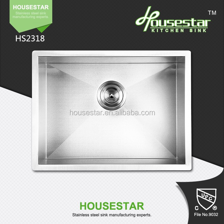 Wholesale! New Modern Design Customize Size Stainless steek kitchen sink for kinds of cabinet--2318A
