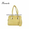 Sunshine yellow woman leather tote bags