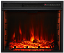 24inch electric Heating amp Decoration electric fireplace with real fire burning flame effect