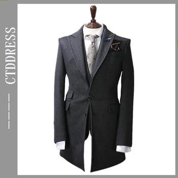 59ba197e03f1 Bespoke Men Cashmere Winter Slim Fit Long Coat - Buy Men Winter ...