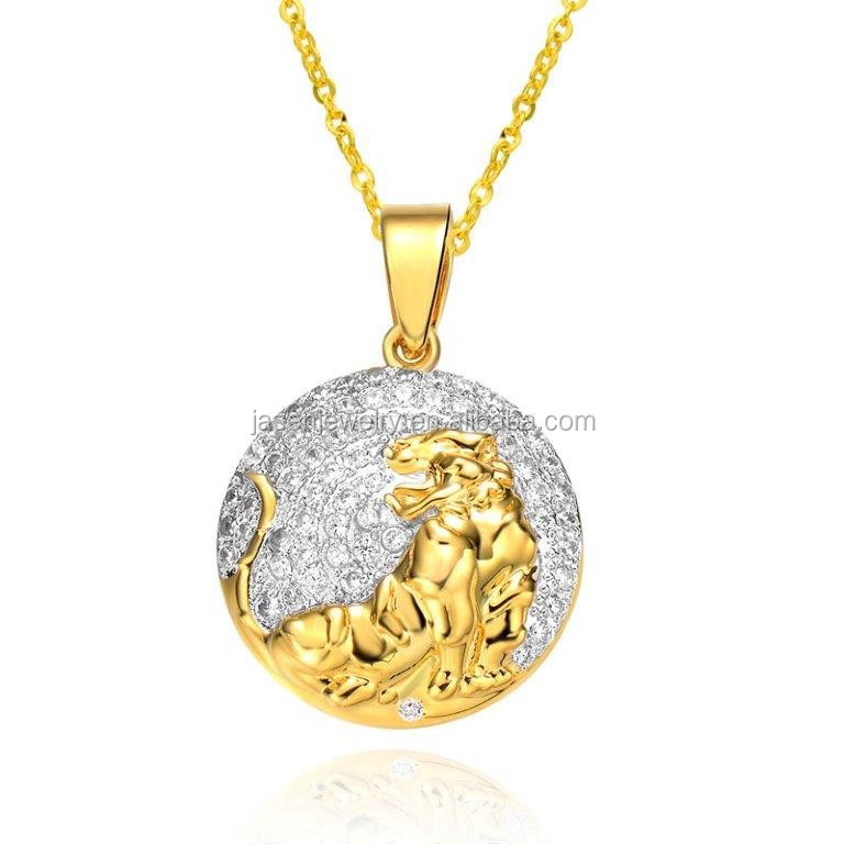 Trending Hot Products Hip Hop Jewelry Tiger Pendant
