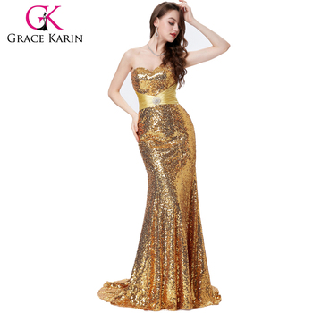 Grace Karin Strapless Sweetheart Neckline Long Mermaid Women\'s ...