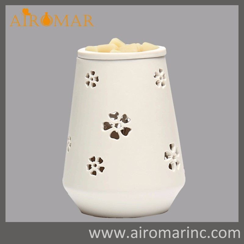Airomar 2016 High-end Ceramic Fragrance Wax Warmer with Unique Design Electric Wax Tart Warmers
