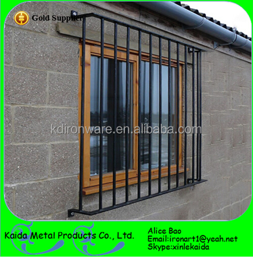 Simple decorative forging craft wrought iron door window for Window net design