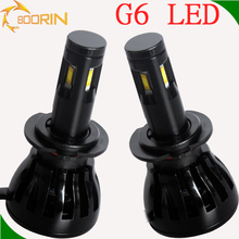 Last desing G6 high lumin led headlight conversion kit 12v 24v car light 96w 9600lm high power led headlamp with all size h4 h7