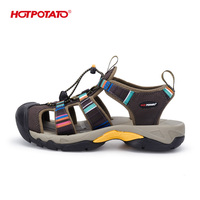 HOTPOTATO best men's sandals bumper toe washable water shoe hiking