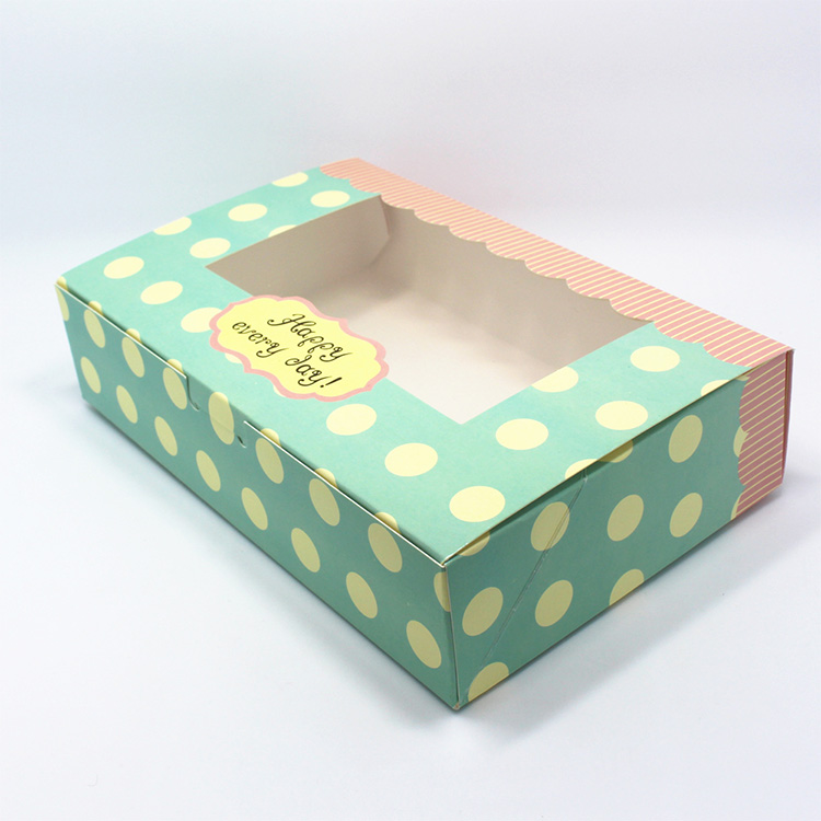 China Factory Promotion 350g  cardboard custom logo cosmetic packaging box with window