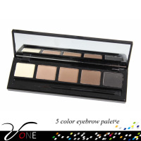 FB05-1 new arrival makeup cosmetic 5 naked color eyebrow palette with high quality