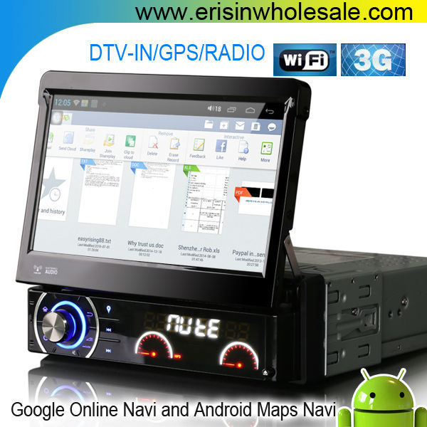 "Erisin ES8990A 7"" Single Din Android System Car DVD Player"