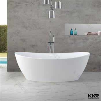 Factory Price Of Round Bathtub, Modern Resin Stone Freestanding Bathtub