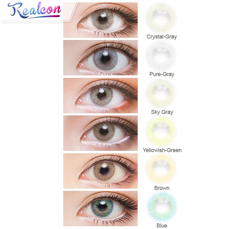 lentes de contacto con color de ojos