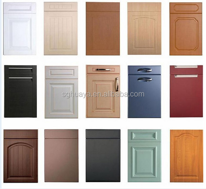 Cost Of Kitchen Cabinet Doors: Low Price Decorative Laminate High Gloss Pvc Kitchen