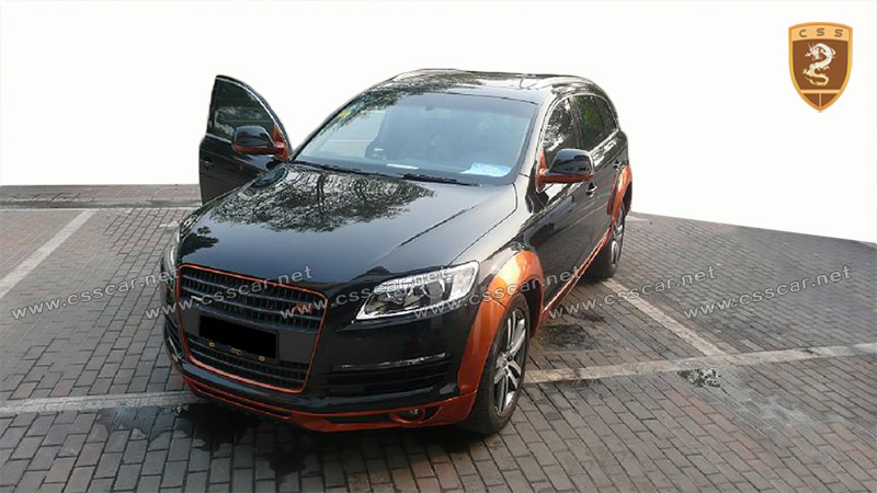 2017 hot sale for audi q7 body kit fit for 08-12 year's car PU material to ab t style