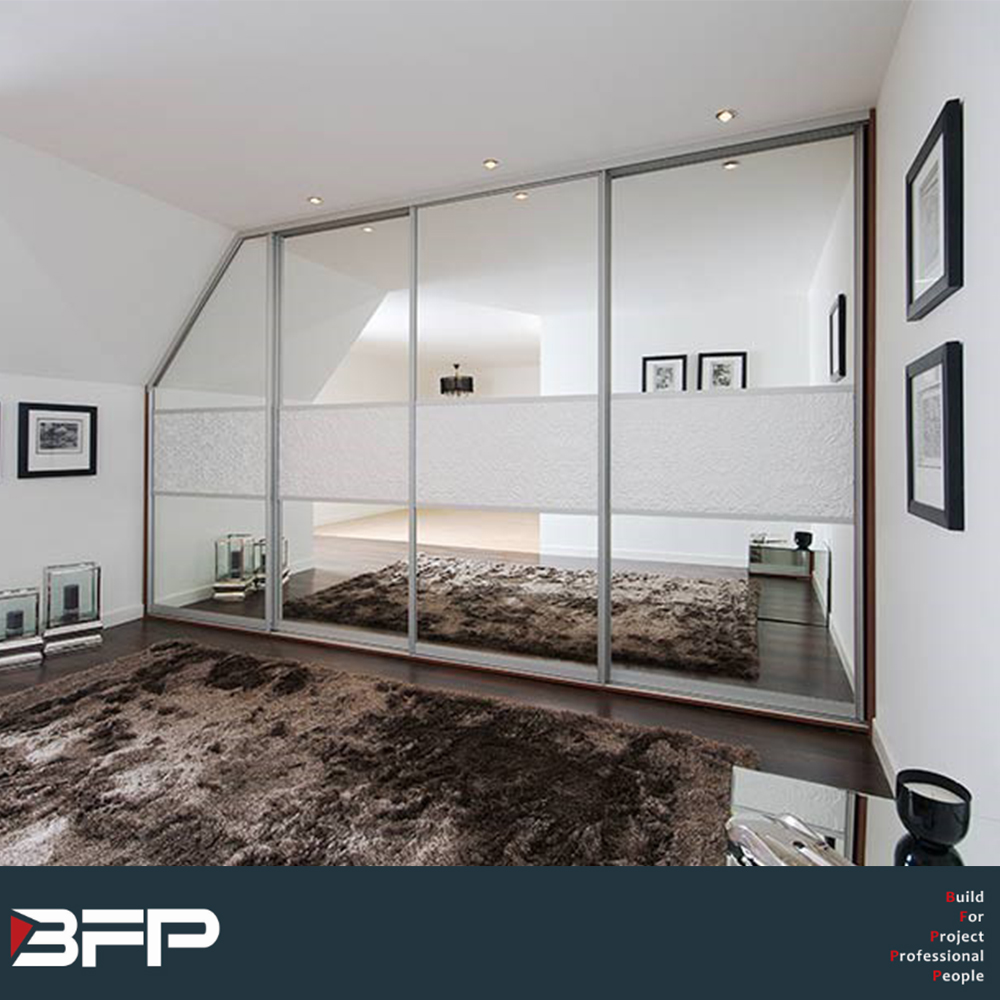 Under Stair Sliding Door Closet With Mirror Buy Mdfmodern Style3