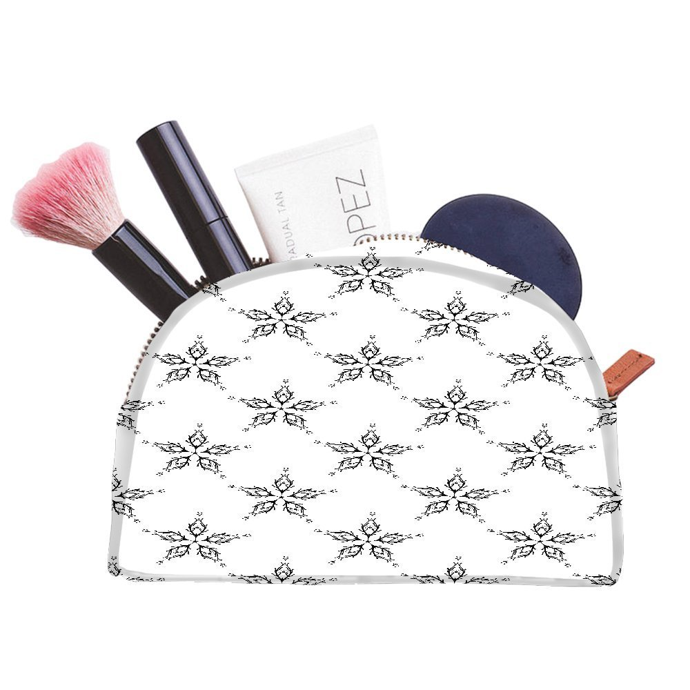 Snoogg Grey Abstract Pattern Designer Multifunctional Canvas Pen Bag Pencil Case Makeup Tool Bag Storage Pouch Purse