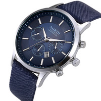 2020 OEM Luxury Brand Men Quartz Watches Genuine Leather 3atm Water Resistant Wrist Watches for Man Sport relojes Outdoor Clock