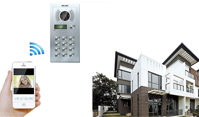 Factory intercom system newest SIP digital system support smart phones 7 inch wireless wifi video door phone