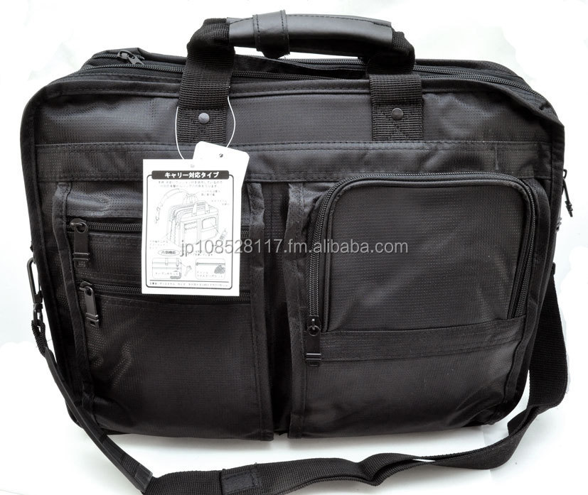 WANCHER Multi-Fuction Fit A4 Size Stylish Business Bag Black Color