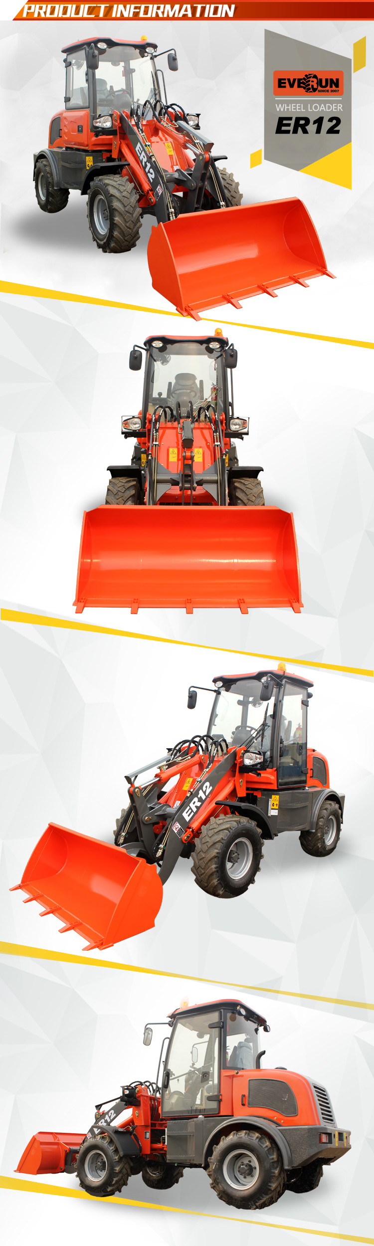 Everun 2016 new products ER12 farm tractor for sale