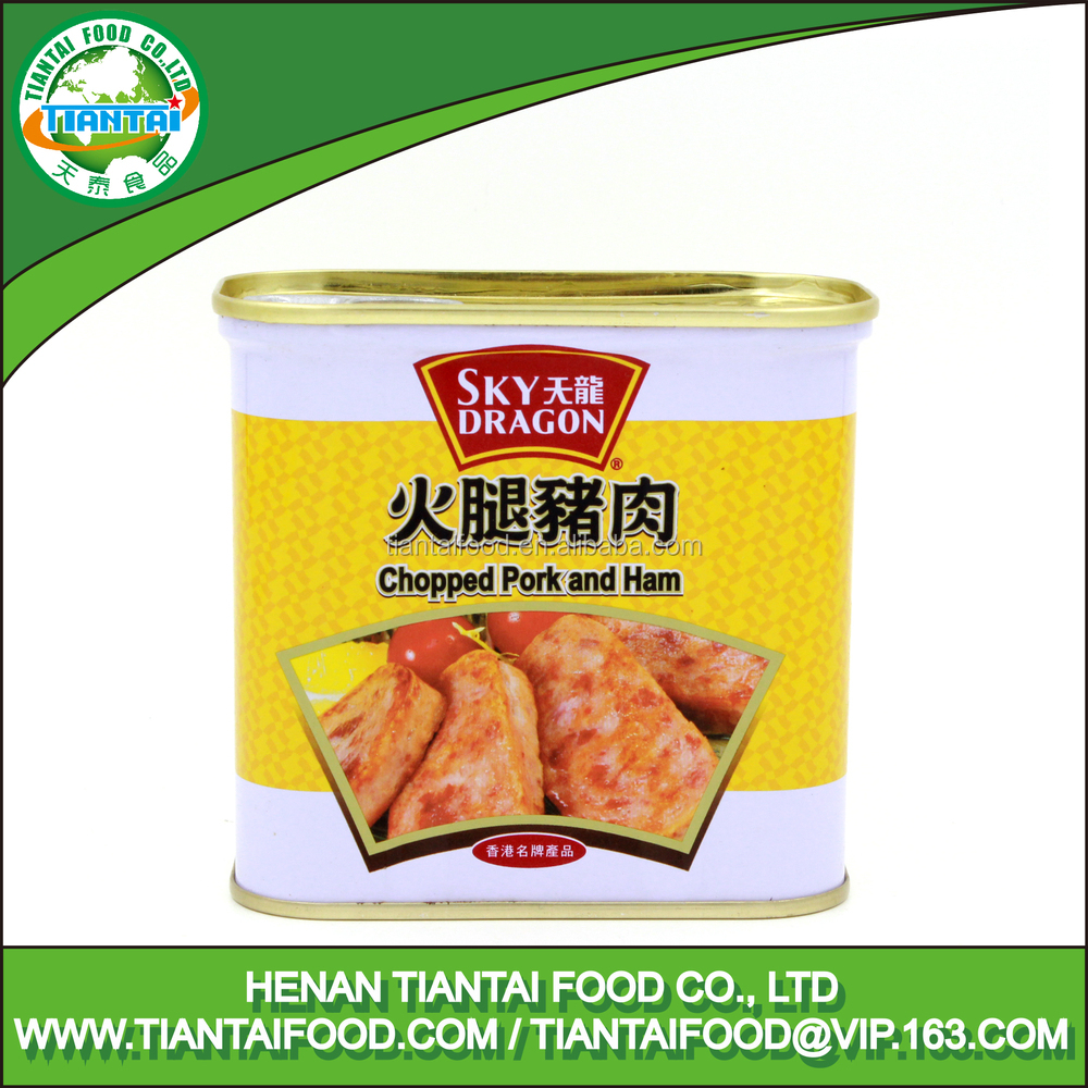 Wholesale factory sales heathy delicious canned chopped pork and ham