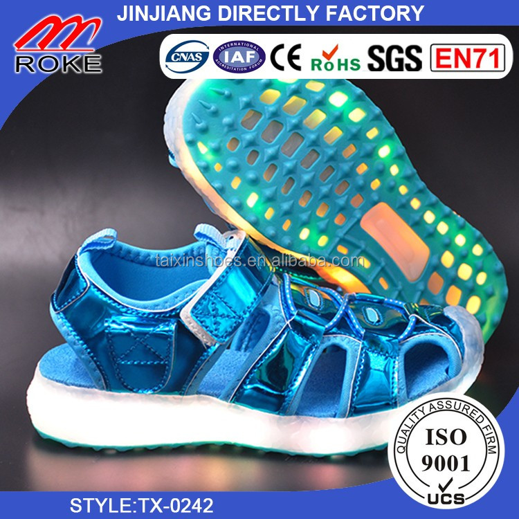 Original HIGH QUALITY with rechargeable battery led kids sandals