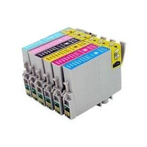 6PK Epson T078(1PK-T0781 1PK-T0782 1PK-T0783 1PK-T0784 1PK-T0785 1PK-T0786) Replacement Ink Cartridges for Epson Stylus Photo R260 R280 R380 RX580 RX595 RX680 by PRITOP