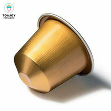 Customable small nespresso shape 빈 aluminum 호 일 <span class=keywords><strong>커피</strong></span> 캡슐 와 lid
