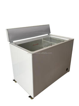 BAIXUE HOT SALE High-quality 12v /24v DC OPEN AIR freezer with battary