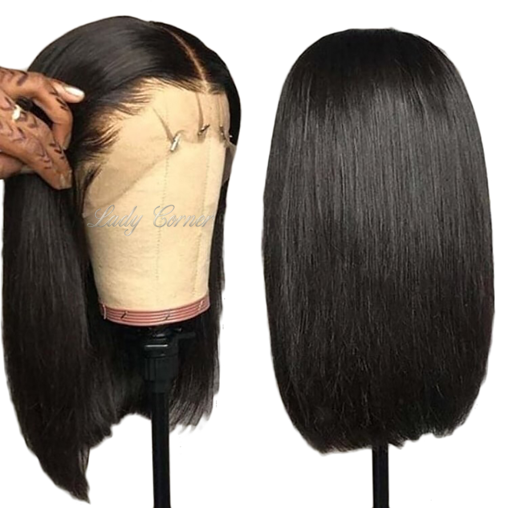 Brazilian human hair full lace wig, virgin Brazilian hair lace front wig 100% human hair preplucked bob wig