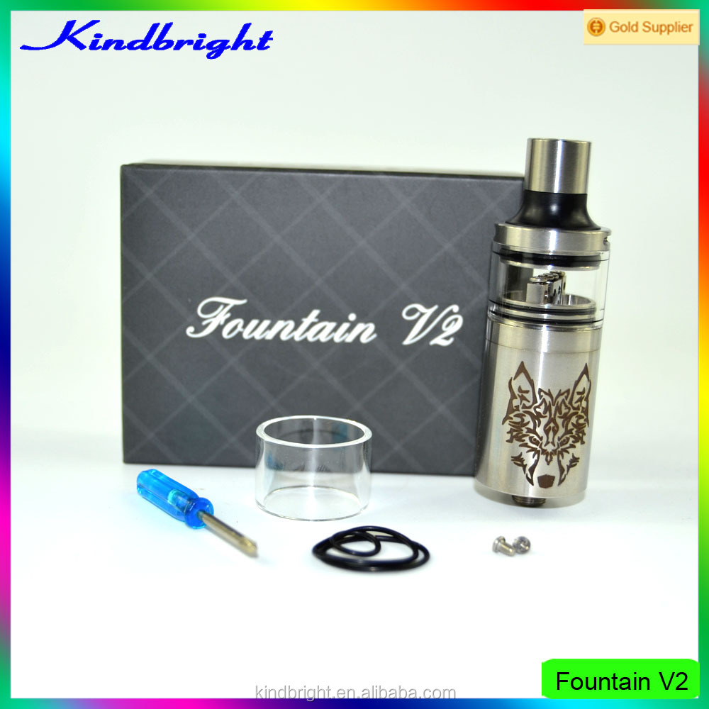high quality best selling Fountain V2 rda with aeronaut Dripper Rda zane rda 1:1 Clone with good price