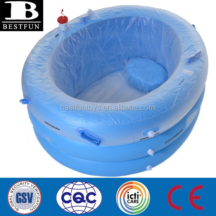big inflatatable birth pool eco water birthing pool with inside seat and inside liners
