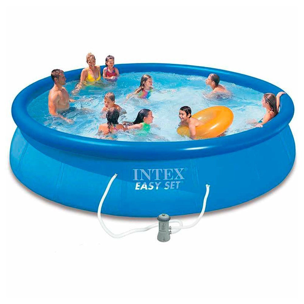 Intex 28158 15ft X 33in Inflatable Easy Set Above Ground Swimming