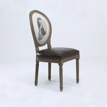 Louis Xv Furniture Oak Frame French Style Oval Back Dining Chair