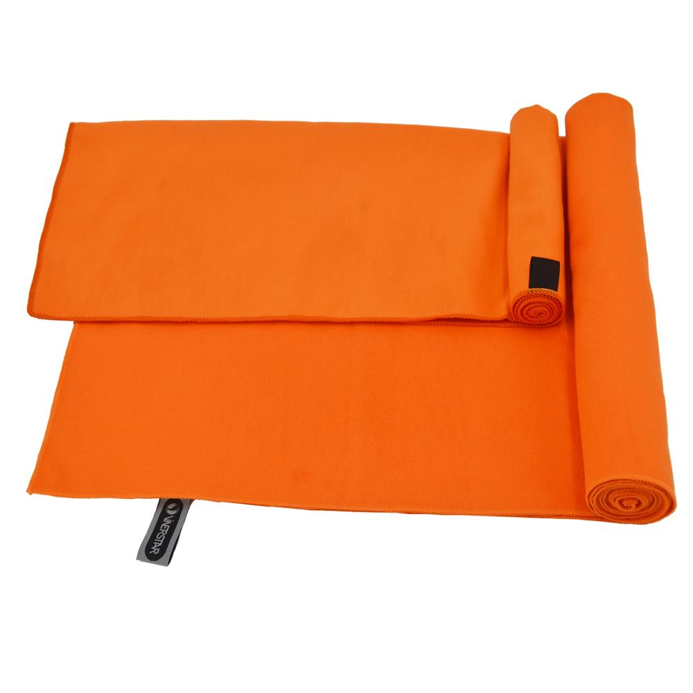 Orange Double Side Suede Microfiber Customized Printed Beach Quick-dry Towel