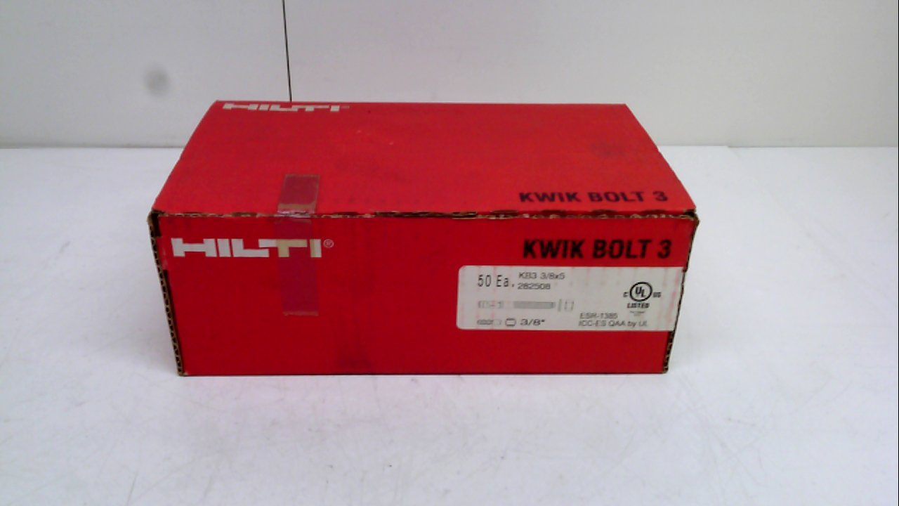 Hilti 282508 - Pack Of 50 - Kwik Bolt, Expansion Anchors 282508 - Pack Of 50 -
