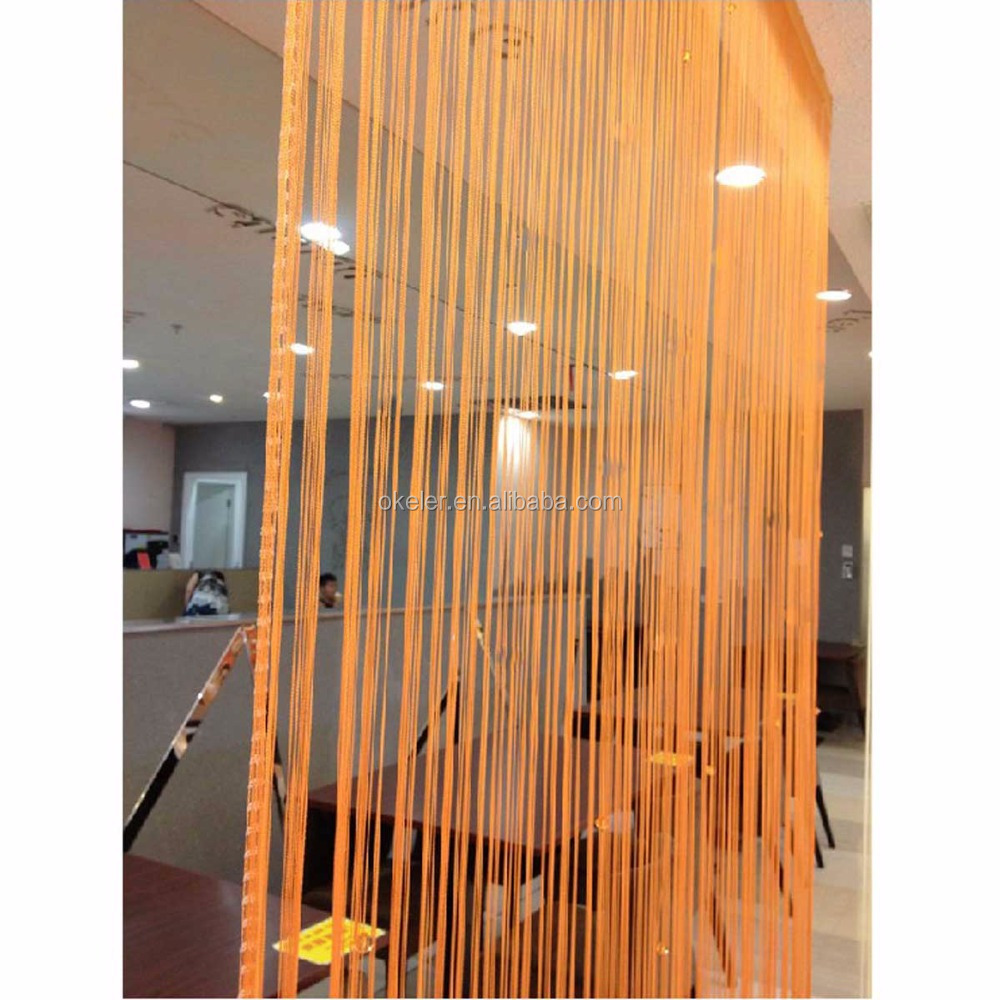 Christmas Wholesale 3m X 3m Orange Window Door Room Home Decor Tassel Drape  Panel Strings Curtain