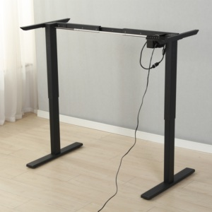 single motor two stages electric stand up desk frame ergonomic electric standing height adjustable desk base