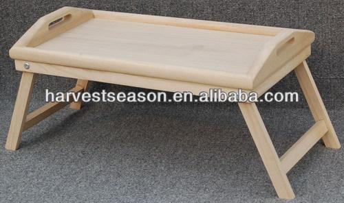 Paulownia bandeja de madera cama de madera de la bandeja patas plegables bandejas de - Bandeja con patas ...