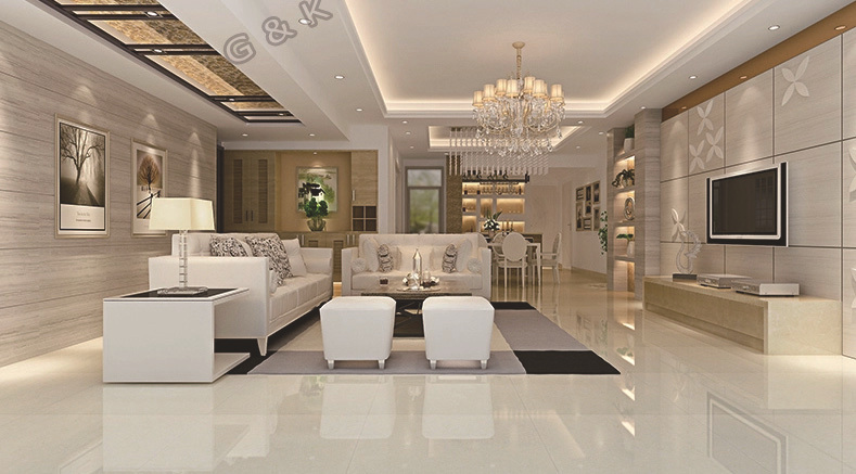 Dubai Prices Living Room Wall Porcelanato Glazed White Marble Tile Part 4