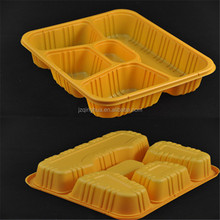 high quality plastic food tray with 3 compartments China manufacture