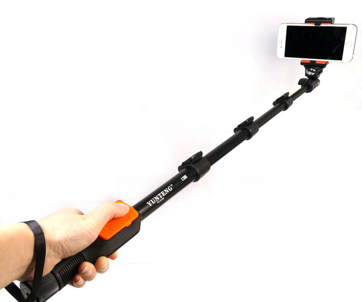 Yunteng 1288 Extendable Mobile Phone Monopod Camera Tripod With Buletooth Remote Shutter