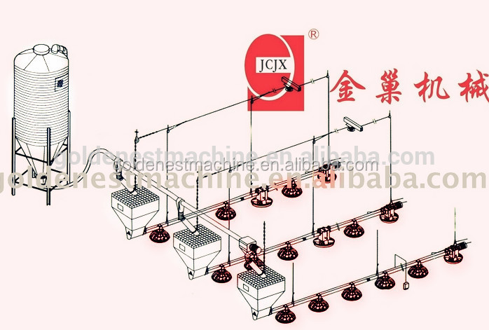Poultry Feeding System With Plastic Flooring Slats System