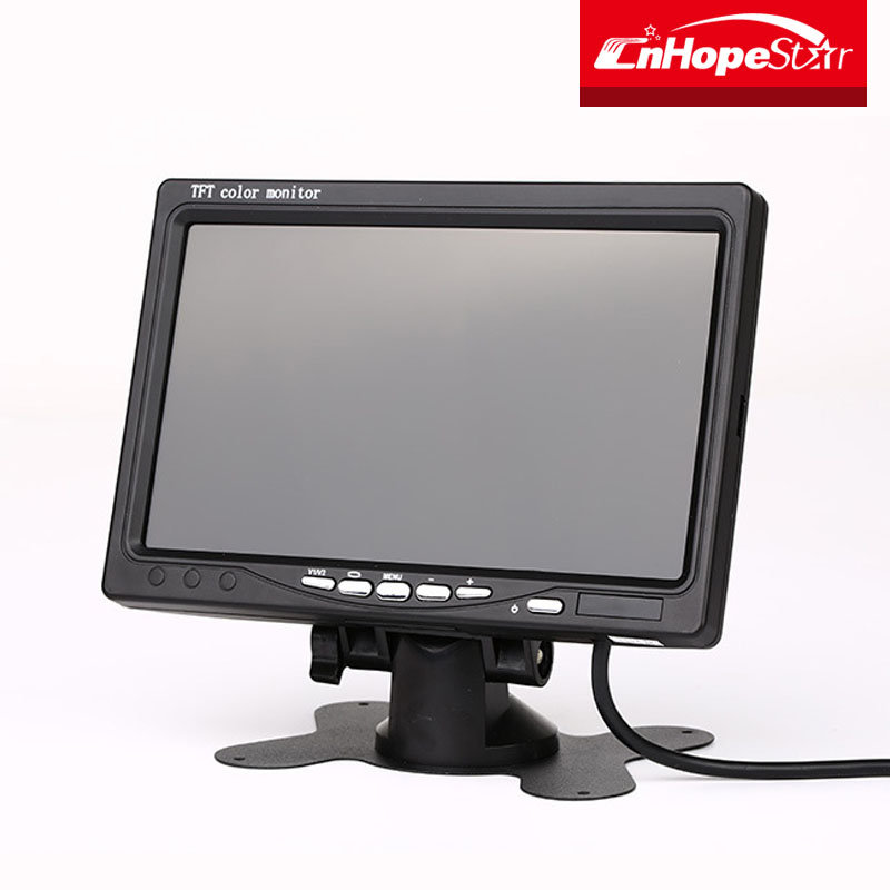 7 Inch AV input rear view mini TV car LCD monitor