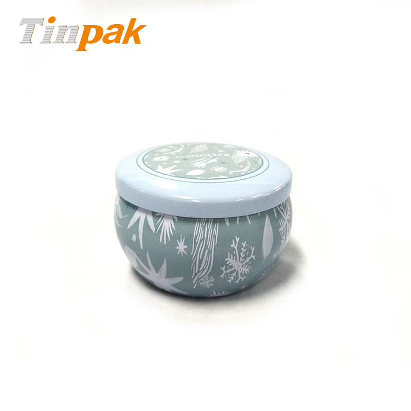 Decorative Luxury Scented Candle Tin Contaienr with Lid