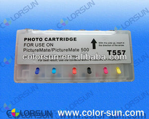 refillable ink cartridge for epson T557 with ARC chips