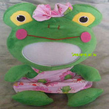 Funny Photo Big Frog 28CM 3D Face Doll