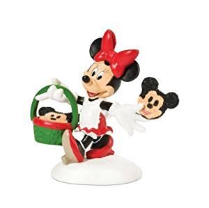 Department 56 Disney Village Accessory Figurine, Minnie Decorating Cookies