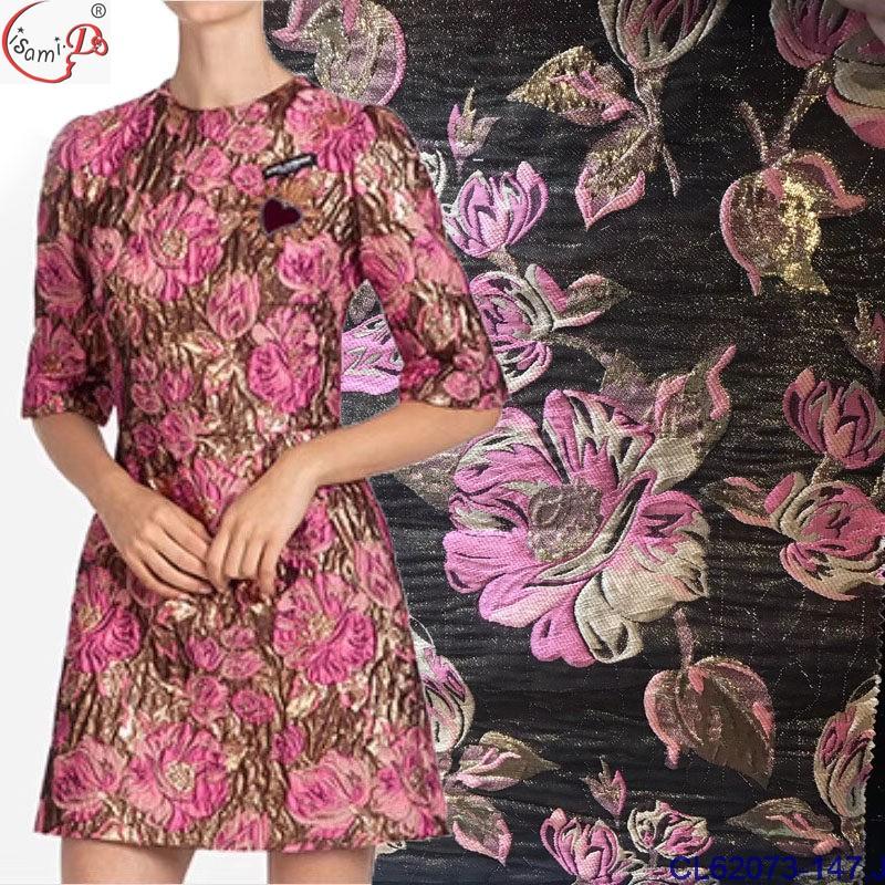 CL62073 fashion design brocade Jacquard classical royal family dress cloth fabric